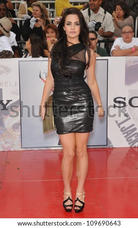 "LOS ANGELES, CA - OCTOBER 27, 2009: Jillian Murray at the premiere of Michael Jackson's ""This Is It"" at the Nokia Theatre, L.A. Live. - stock photo"