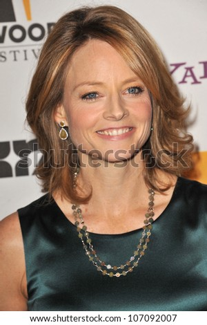 LOS ANGELES, CA - OCTOBER 25, 2010: Jodie Foster at the 14th Annual Hollywood Awards Gala at the Beverly Hilton Hotel. - stock photo