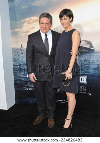LOS ANGELES, CA - OCTOBER 26, 2014: Paramount Pictures boss Brad Grey & wife at the Los Angeles premiere of Interstellar at the TCL Chinese Theatre, Hollywood.  - stock photo