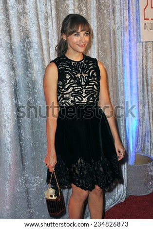LOS ANGELES, CA - OCTOBER 28, 2014: Rashida Jones at the 25th Courage in Journalism Awards at the Beverly Hilton Hotel.  - stock photo