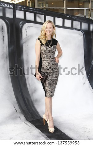 LOS ANGELES, CA - SEP 25: Anne Heche at the IRIS, A Journey Through the World of Cinema by Cirque du Soleil premiere September 25, 2011 at Kodak Theater in Los Angeles, California - stock photo
