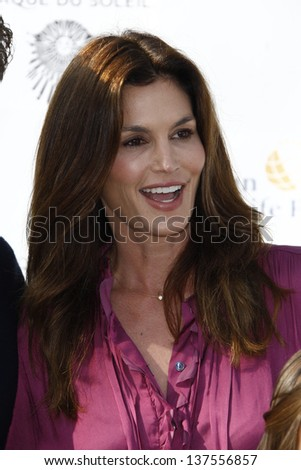 LOS ANGELES, CA - SEP 25: Cindy Crawford at the IRIS, A Journey Through the World of Cinema by Cirque du Soleil premiere September 25, 2011 at Kodak Theater in Los Angeles, California - stock photo