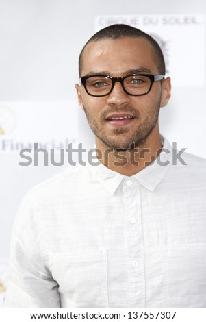 LOS ANGELES, CA - SEP 25: Jesse Williams  at the IRIS, A Journey Through the World of Cinema by Cirque du Soleil premiere September 25, 2011 at Kodak Theater in Los Angeles, California - stock photo