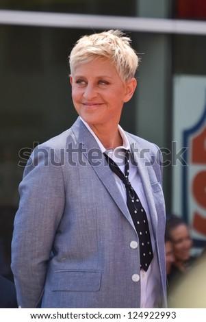 LOS ANGELES, CA - SEPTEMBER 4: Ellen DeGeneres at the Hollywood Walk of Fame Ceremony for Ellen Degeneres at W Hollywood on September 4, 2012 in Los Angeles, CA - stock photo