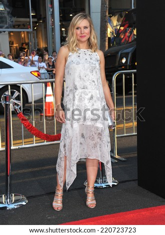 """LOS ANGELES, CA - SEPTEMBER 15, 2014: Kristen Bell at the Los Angeles premiere of """"This Is Where I Leave You"""" at the TCL Chinese Theatre, Hollywood.  - stock photo"""