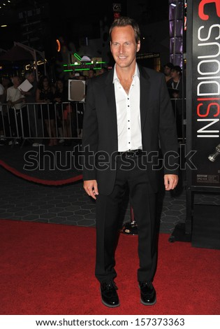 "LOS ANGELES, CA - SEPTEMBER 10, 2013: Patrick Wilson at the world premiere of his movie ""Insidious Chapter 2"" at Universal Citywalk, Hollywood.  - stock photo"