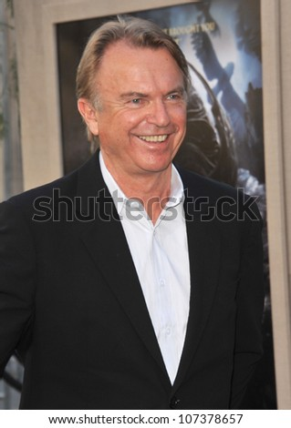 """LOS ANGELES, CA - SEPTEMBER 19, 2010: Sam Neill at the world premiere of his new movie """"Legends of the Guardians: The Owls of Ga'Hoole"""" at Grauman's Chinese Theatre, Hollywood. - stock photo"""