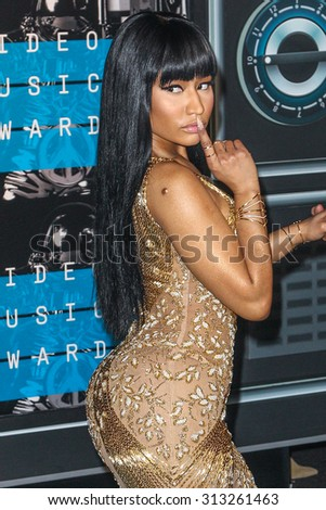 LOS ANGELES, CA/USA - AUGUST 30 2015: Nicki Minaj attends the 2015 MTV Video Music Awards at Microsoft Theater. - stock photo