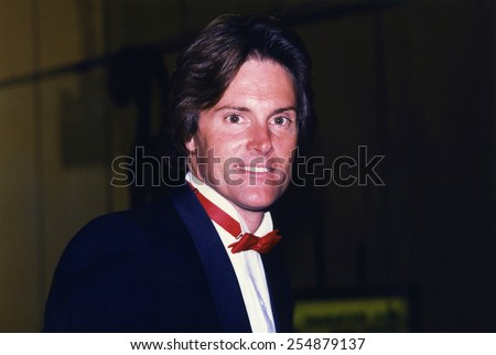 Los Angeles, California - exact date unknown - circa 1990 - Bruce Jenner arriving at a formal celebrity event - stock photo
