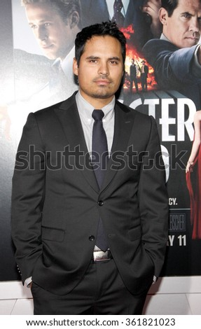 LOS ANGELES, CALIFORNIA - January 7, 2013. Michael Pena at the Los Angeles premiere of 'Gangster Squad' held at the Grauman's Chinese Theatre in Los Angeles.   - stock photo