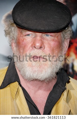 LOS ANGELES, CALIFORNIA - January 7, 2013. Nick Nolte at the Los Angeles premiere of 'Gangster Squad' held at the Grauman's Chinese Theatre in Los Angeles.   - stock photo