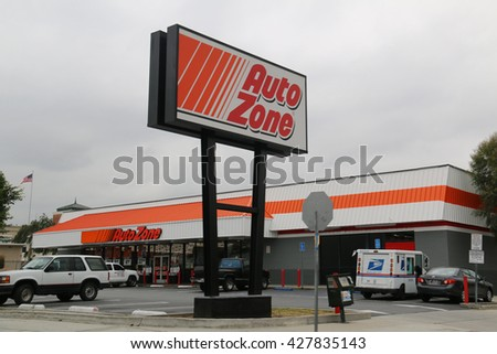 Los Angeles, California, USA - May 9, 2016: Autozone is the second-largest aftermarket automotive parts and accessories retailer in the United States. - stock photo