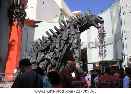 Los Angeles, California, USA - May 19, 2014: TCL Chinese Theater, a famous cinema on the historic Hollywood Walk of Fame on Hollywood Boulevard, Los Angeles, California - stock photo