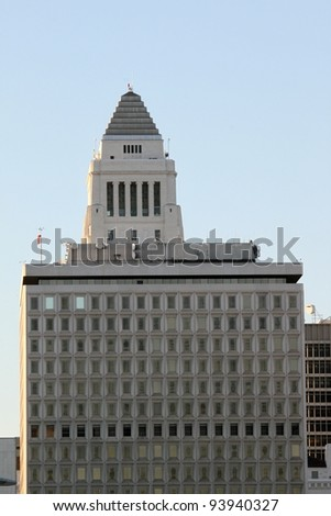 Los Angeles city hall in downtown. - stock photo