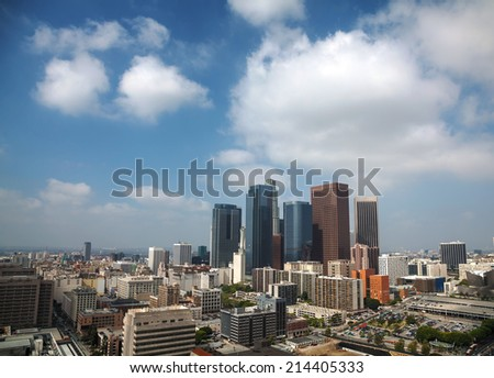 Los Angeles cityscape on a sunny day - stock photo