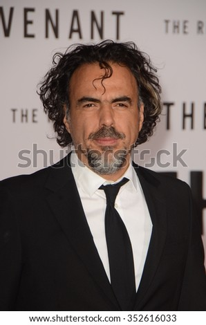LOS ANGELES - DEC 16:  Alejandro Gonzalez Inarritu at the The Revenant Los Angeles Premiere at the TCL Chinese Theater on December 16, 2015 in Los Angeles, CA - stock photo