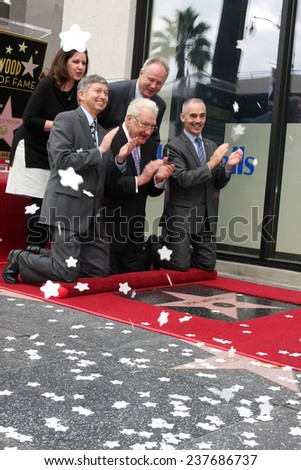 LOS ANGELES - DEC 11:  Don Mischer, Chamber officials, councilmen at the Don Mischer Star on the Hollywood Walk of Fame at the Hollywood Boulevard on December 11, 2014 in Los Angeles, CA - stock photo
