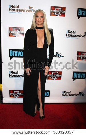 LOS ANGELES - DEC 3:  Erika Girardi at The Real Housewives of Beverly Hills Premiere Red Carpet 2015 at the W Hotel Hollywood on December 3, 2015 in Los Angeles, CA - stock photo