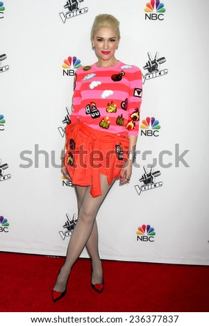 "LOS ANGELES - DEC 8:  Gwen Stefani at the NBC's ""The Voice"" Season 7 Red Carpet Event at the HYDE Sunset: Kitchen + Cocktails on December 8, 2014 in West Hollywood, CA - stock photo"