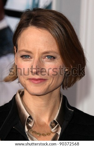 "LOS ANGELES - DEC 6:  Jodie Foster arrives at the ""Sherlock Holmes: A Game of Shadows"" Los Angeles Premiere at Regency Village Theatre on December 6, 2011 in Westwood, CA - stock photo"