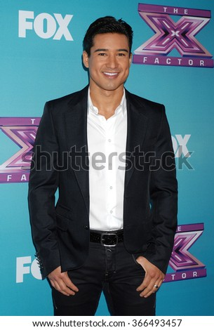 LOS ANGELES - DEC 17 - Mario Lopez arrives at the X Factor Season Finale Press Conference  on December 17, 2012 in Los Angeles, CA              - stock photo
