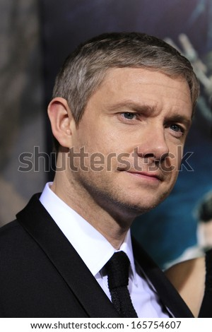 LOS ANGELES - DEC 2: Martin Freeman at the premiere of Warner Bros' 'The Hobbit: The Desolation of Smaug' at the Dolby Theater on December 2, 2013 in Los Angeles, CA - stock photo