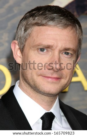"""LOS ANGELES - DEC 2:  Martin Freeman at the """"The Hobbit"""" Premiere at Dolby Theater on December 2, 2013 in Los Angeles, CA - stock photo"""