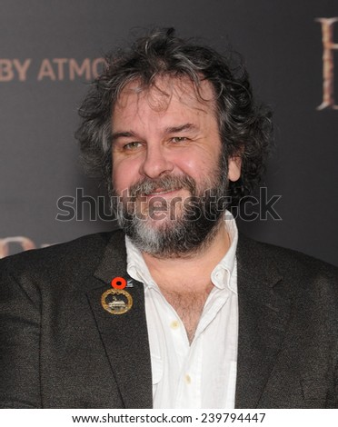 """LOS ANGELES - DEC 09:  Peter Jackson arrives to the """"The Hobbit: The Battle Of The Five Armies"""" Los Angeles Premiere  on December 9, 2014 in Hollywood, CA                 - stock photo"""