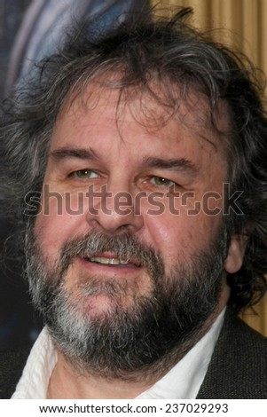 """LOS ANGELES - DEC 9:  Peter Jackson at the """"The Hobbit: The Battle of the Five Armies"""" Los Angeles Premiere at the Dolby Theater on December 9, 2014 in Los Angeles, CA - stock photo"""