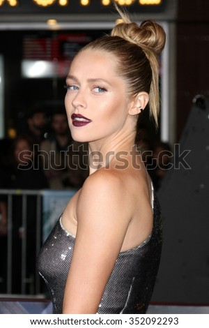 LOS ANGELES - DEC 15:  Teresa Palmer at the Point Break Premiere at the TCL Chinese Theater on December 15, 2015 in Los Angeles, CA - stock photo