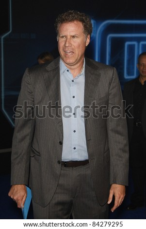 LOS ANGELES - DEC 11: Will Ferrell at the world premiere of 'Tron' held at the El Capitan Theatre in Los Angeles, California on December 11, 2010 - stock photo