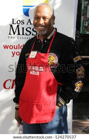 LOS ANGELES - DECEMBER 22: James Pickens Jr at the Annual Los Angeles Mission Christmas Event December 22, 2006 in Los Angeles, CA. - stock photo