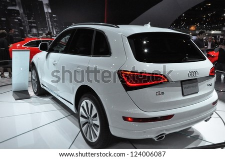 LOS ANGELES - DECEMBER 8: The Audi Q5 at the 2012 Los Angeles Auto Show as seen on December 8, 2012 in Los Angeles, California. - stock photo