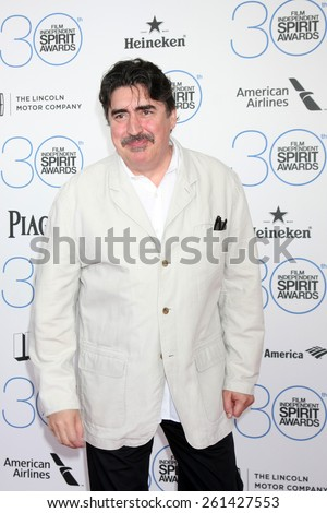 LOS ANGELES - FEB 21:  Alfred Molina at the 30th Film Independent Spirit Awards at a tent on the beach on February 21, 2015 in Santa Monica, CA - stock photo