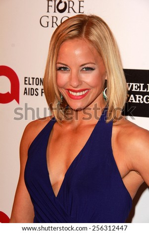 LOS ANGELES - FEB 22:  Amy Paffrath at the Elton John Oscar Party 2015 at the City Of West Hollywood Park on February 22, 2015 in West Hollywood, CA - stock photo
