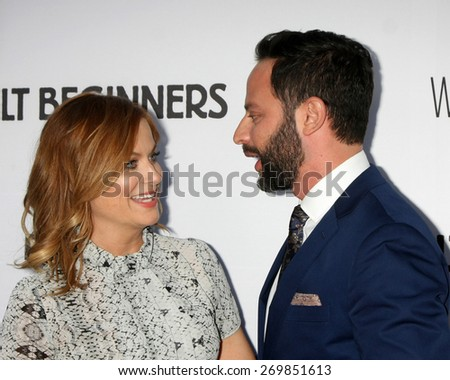 """LOS ANGELES - FEB 15:  Amy Poehler, Nick Kroll at the """"Adult Beginners"""" Los Angeles Premiere at the ArcLight Hollywood Theaters on April 15, 2015 in Los Angeles, CA - stock photo"""