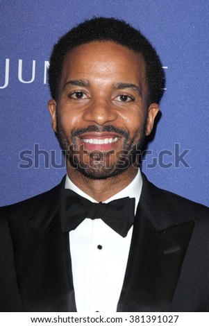 LOS ANGELES - FEB 23:  Andre Holland at the 18th Costume Designers Guild Awards at the Beverly Hilton Hotel on February 23, 2016 in Beverly Hills, CA - stock photo