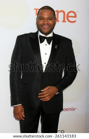 LOS ANGELES - FEB 6:  Anthony Anderson at the 46th NAACP Image Awards Arrivals at a Pasadena Convention Center on February 6, 2015 in Pasadena, CA - stock photo