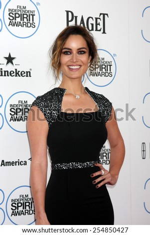 LOS ANGELES - FEB 21:  Berenice Marlohe at the 30th Film Independent Spirit Awards at a tent on the beach on February 21, 2015 in Santa Monica, CA - stock photo