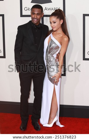 LOS ANGELES - FEB 8:  Big Sean, Arianne Grande at the 57th Annual GRAMMY Awards Arrivals at a Staples Center on February 8, 2015 in Los Angeles, CA - stock photo