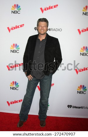 """LOS ANGELES - FEB 23:  Blake Shelton at the """"The Voice"""" Summer Break Party - Top 8 at the Pacific Design Center on April 23, 2015 in West Hollywood, CA - stock photo"""
