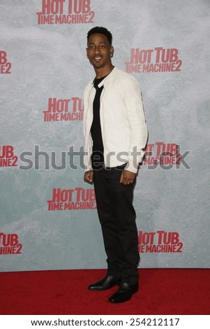 LOS ANGELES - FEB 18: Brandon T. Jackson at the 'Hot Tub Time Machine 2' premiere on February 18, 2014 in Los Angeles, California - stock photo