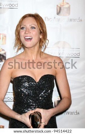 LOS ANGELES - FEB 4:  Brittany Snow arrives at the 39th Annual Annie Awards at Royce Hall at UCLA on February 4, 2012 in Westwood, CA - stock photo