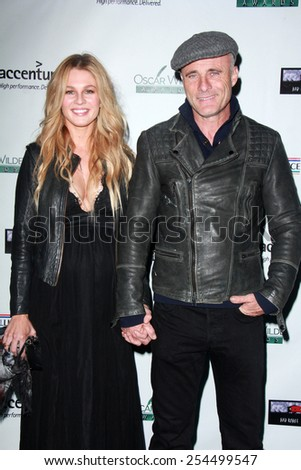 LOS ANGELES - FEB 19:  Caitlin Manley, Tim Murphy at the Oscar Wilde US-Ireland Pre-Academy Awards Event at a Bad Robot on February 19, 2015 in Santa Monica, CA - stock photo