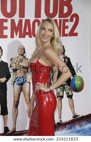 LOS ANGELES - FEB 18: Christine Bently at the 'Hot Tub Time Machine 2' premiere on February 18, 2014 in Los Angeles, California - stock photo