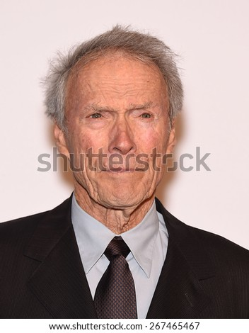 LOS ANGELES - FEB 02:  Clint Eastwood arrives to the Oscar Nominee Reception  on February 2, 2015 in Beverly Hills, CA                 - stock photo