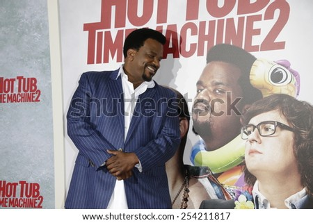LOS ANGELES - FEB 18: Craig Robinson at the 'Hot Tub Time Machine 2' premiere on February 18, 2014 in Los Angeles, California - stock photo