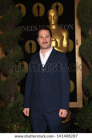 LOS ANGELES - FEB 7:  DARREN ARONOFSKY arrives to the 83rd Academy Awards Nominees Luncheon  on Feb 7, 2011 in Beverly Hills, CA - stock photo
