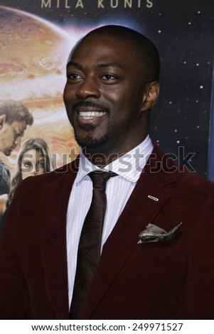 LOS ANGELES - FEB 2: David Ajala at the 'Jupiter Ascending' Los Angeles Premiere at TCL Chinese Theater on February 2, 2015 in Hollywood, Los Angeles, California - stock photo