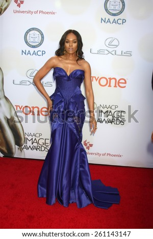 LOS ANGELES - FEB 6:  Demetria McKinney at the 46th NAACP Image Awards Arrivals at a Pasadena Convention Center on February 6, 2015 in Pasadena, CA - stock photo